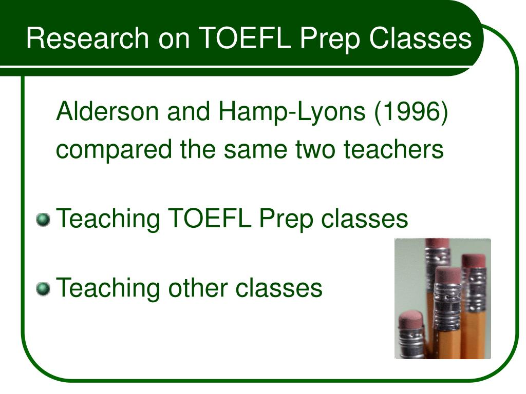 Research on TOEFL Prep Classes