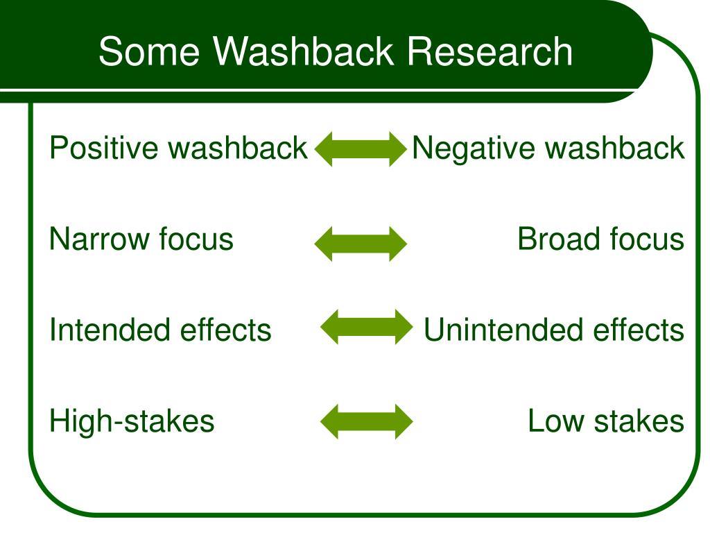 Positive washback