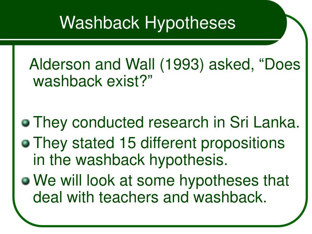 Washback Hypotheses