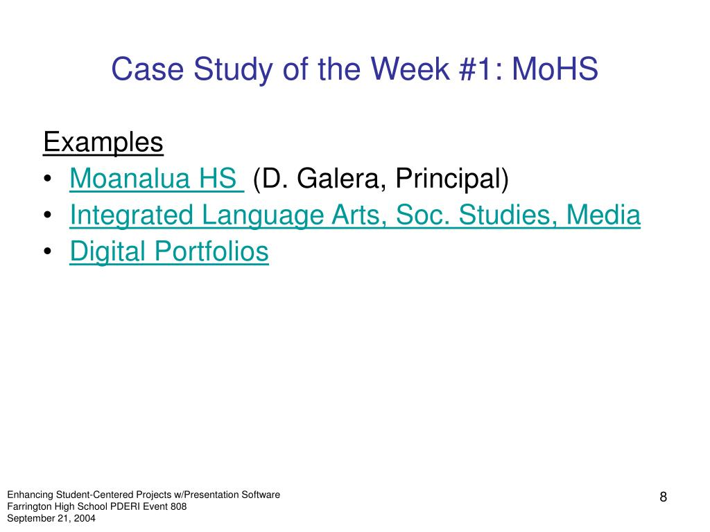 Case Study of the Week #1: MoHS