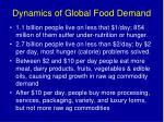 dynamics of global food demand