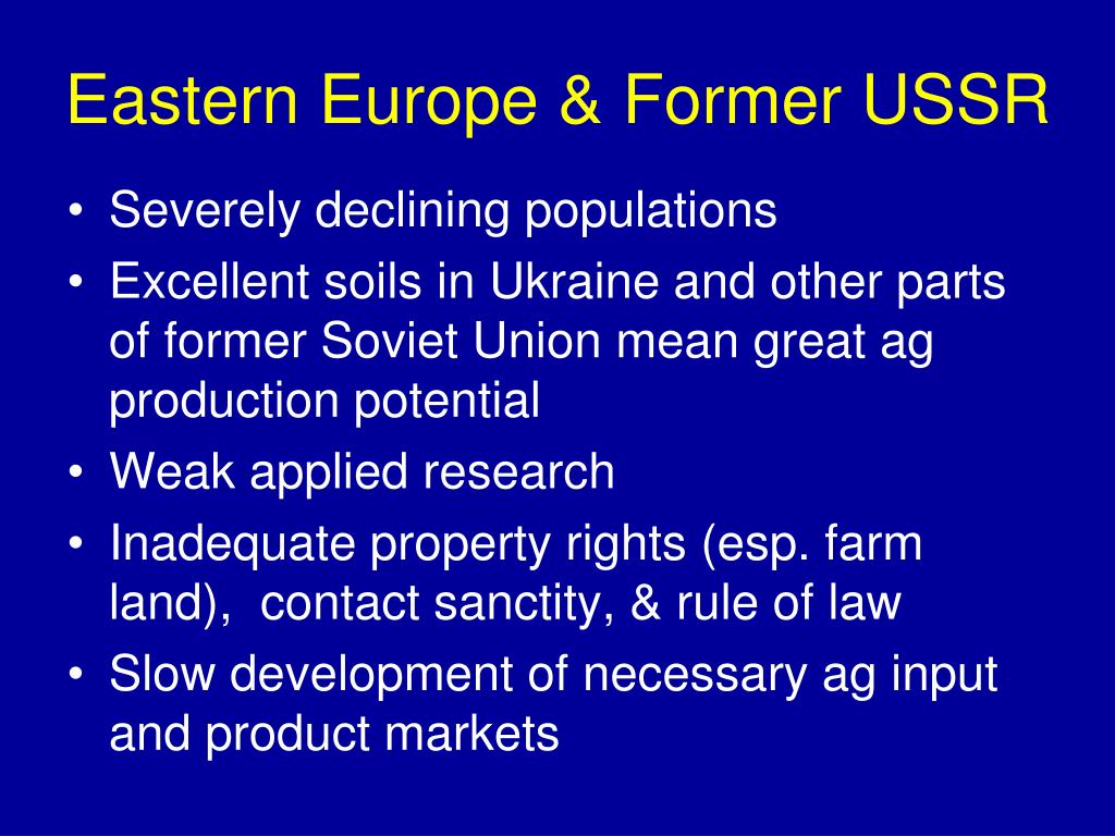 Eastern Europe & Former USSR