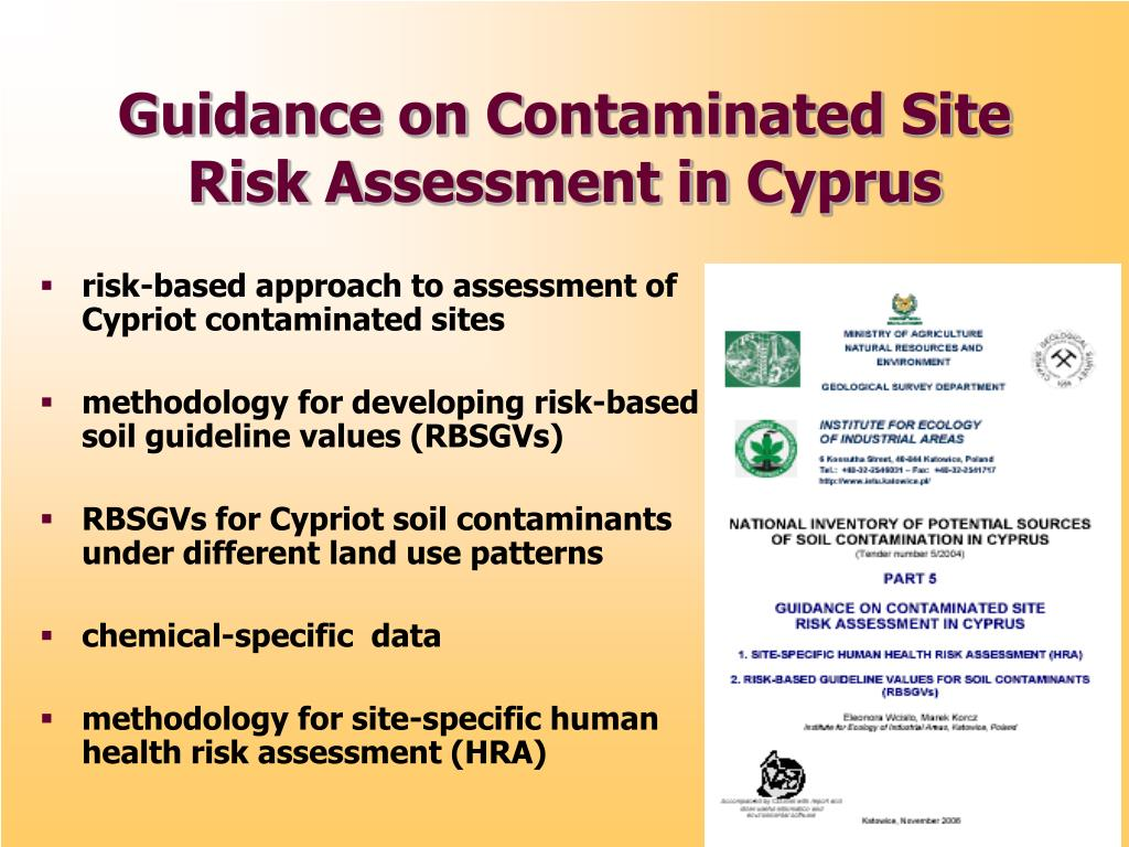 risk-based approach to assessment of Cypriot contaminated sites