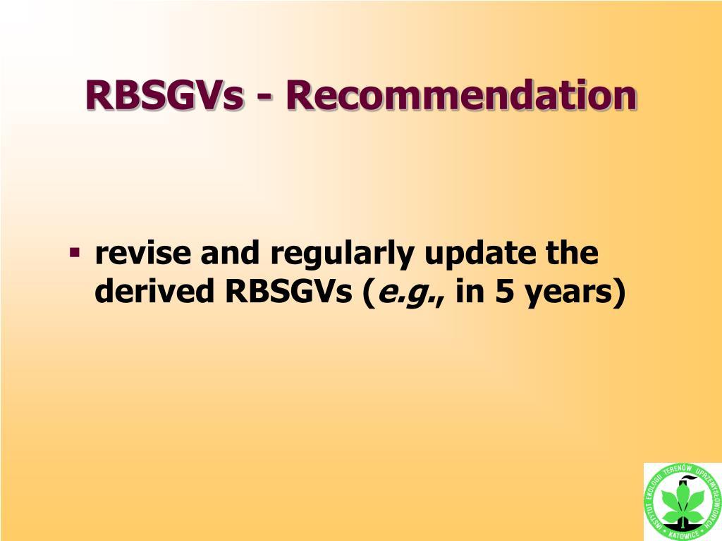 RBSGVs