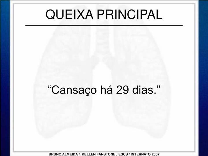 QUEIXA PRINCIPAL