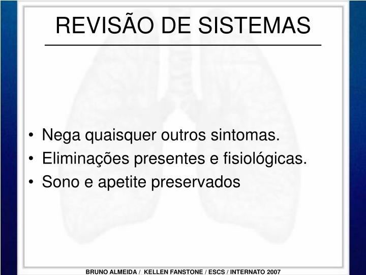 REVISÃO DE SISTEMAS