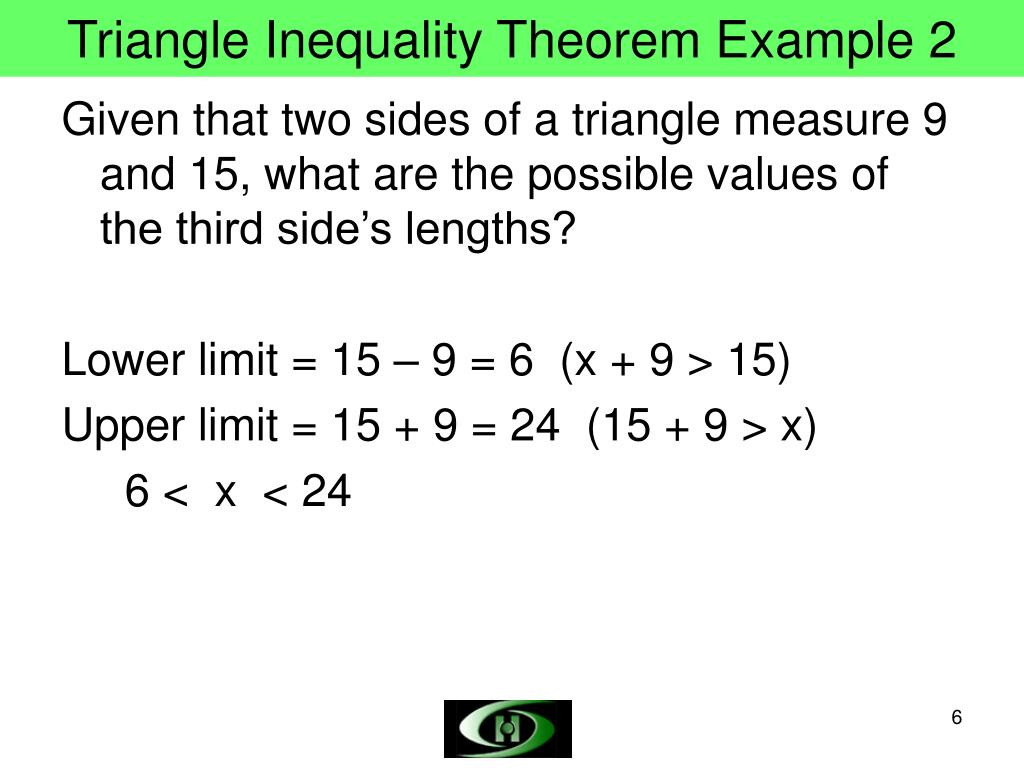 Triangle Inequality Theorem Example 2