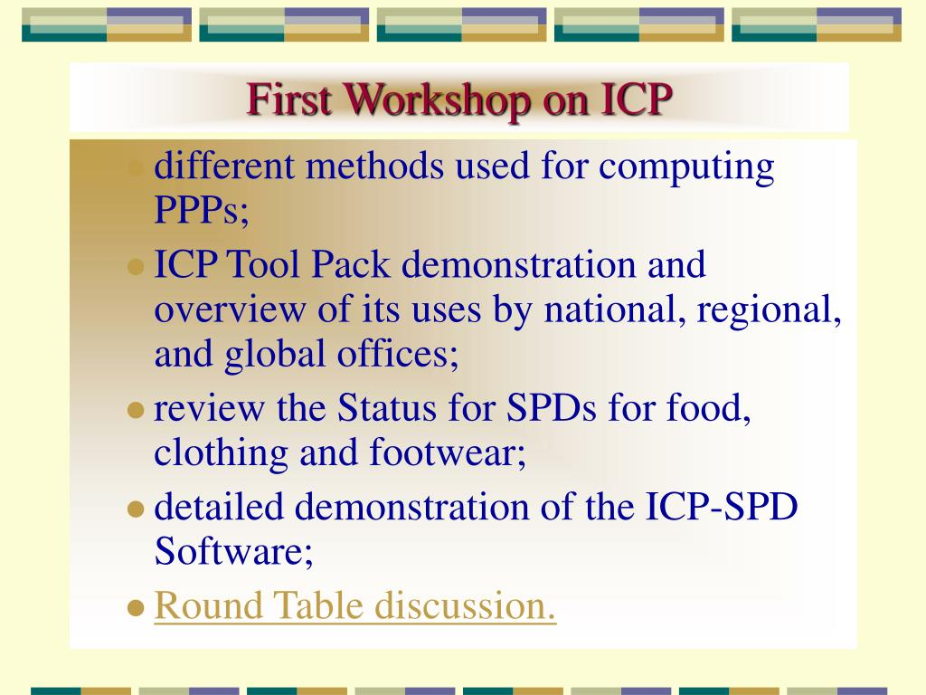First Workshop on ICP