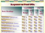 responses on food spds13