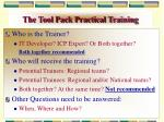 the tool pack practical training