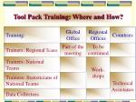 tool pack training where and how