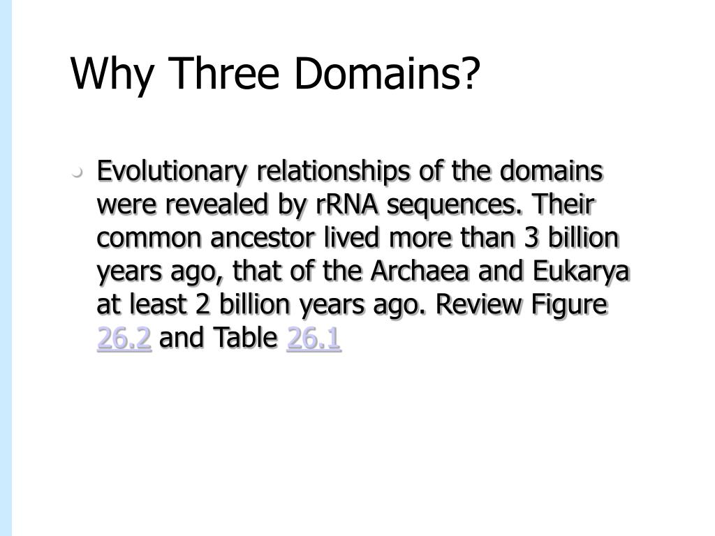 Why Three Domains?