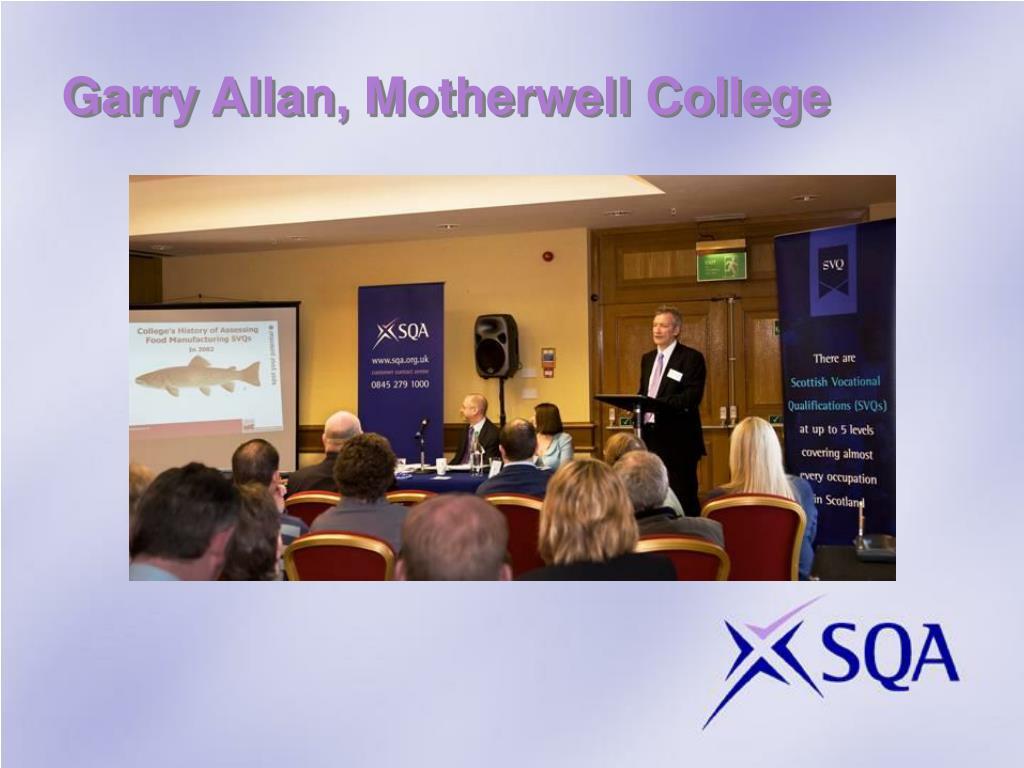 Garry Allan, Motherwell College