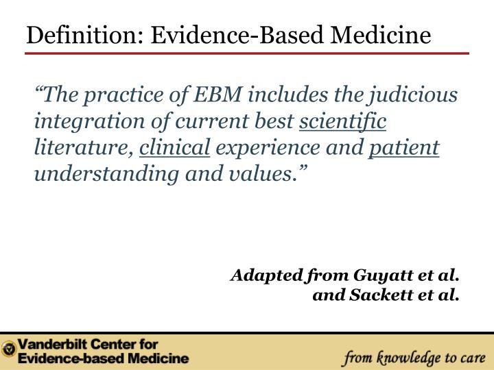 Definition: Evidence-Based Medicine
