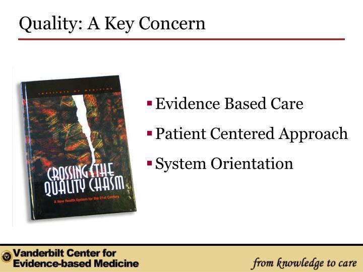 Quality: A Key Concern