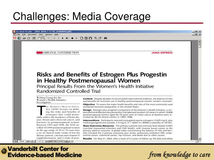 Challenges: Media Coverage