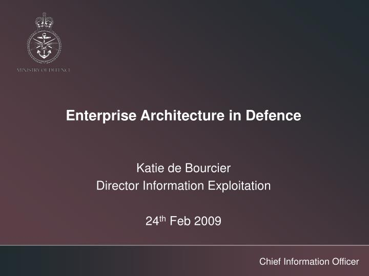 Enterprise architecture in defence l.jpg