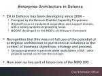 enterprise architecture in defence5
