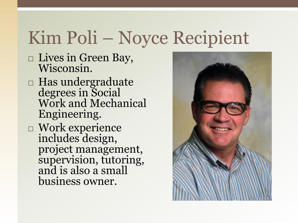 Kim Poli – Noyce Recipient