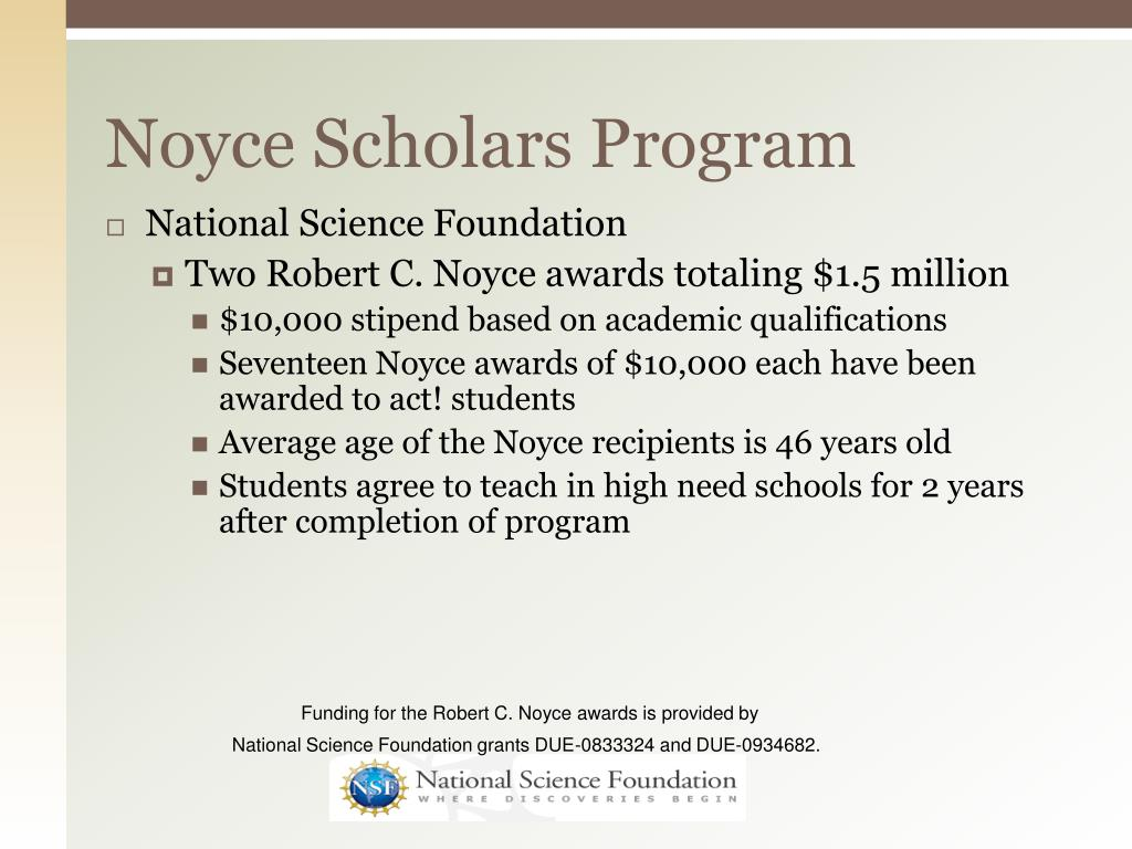 Noyce Scholars Program