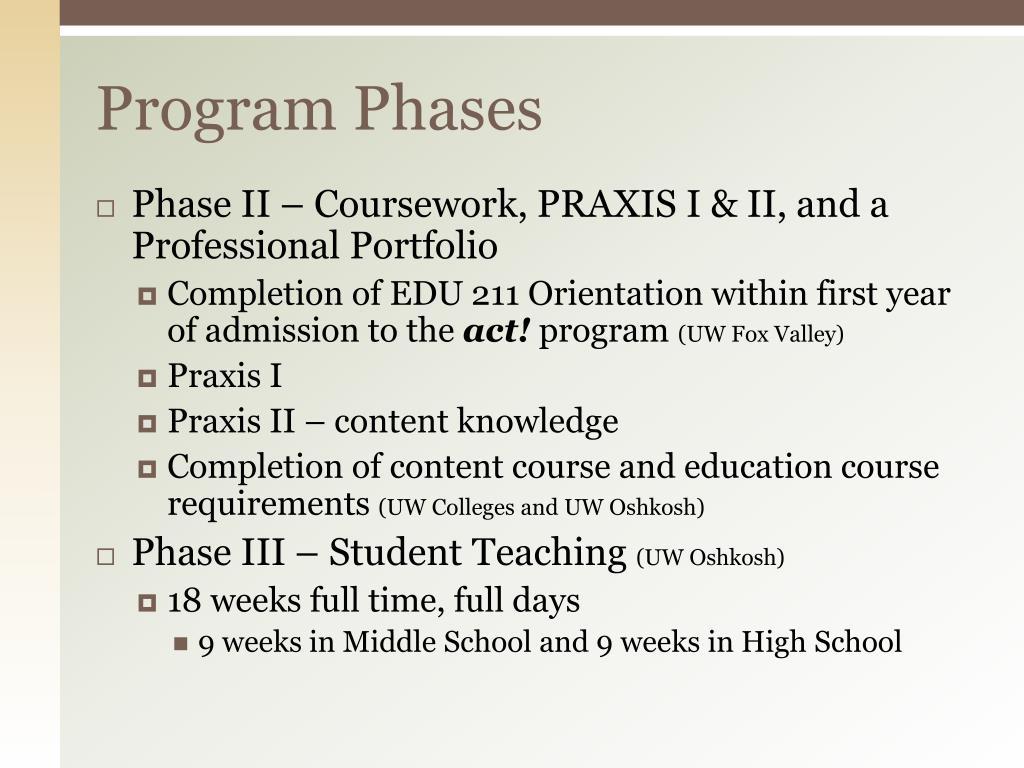 Program Phases
