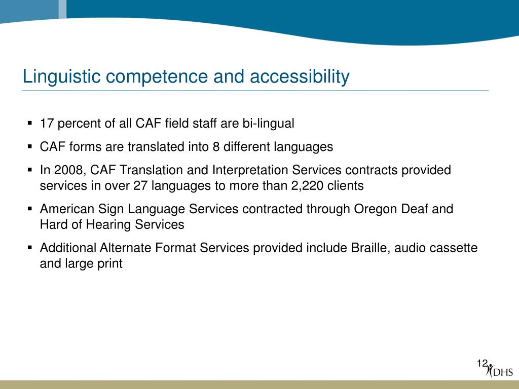 Linguistic competence and accessibility