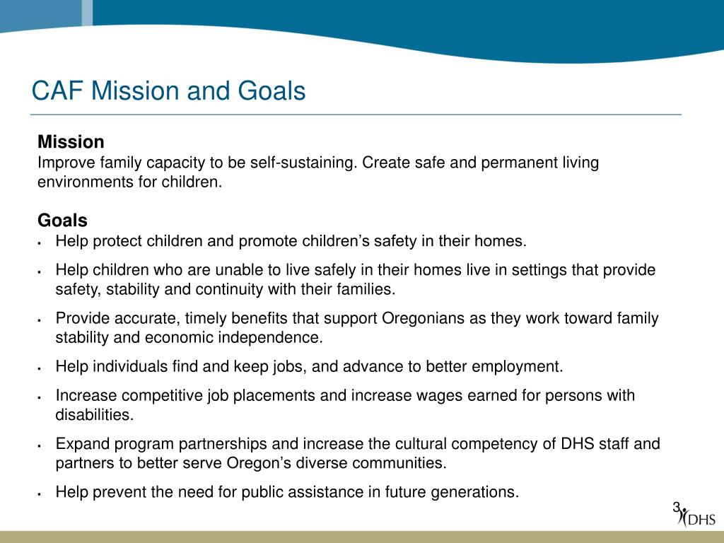 CAF Mission and Goals