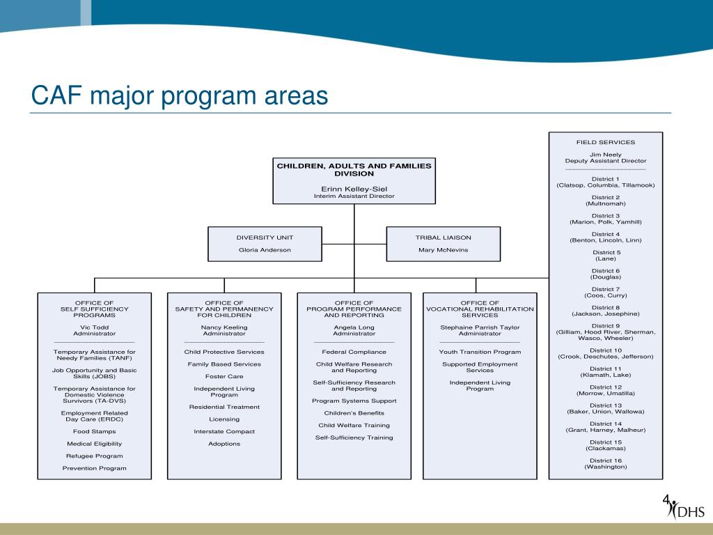 CAF major program areas