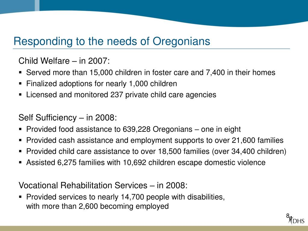 Responding to the needs of Oregonians