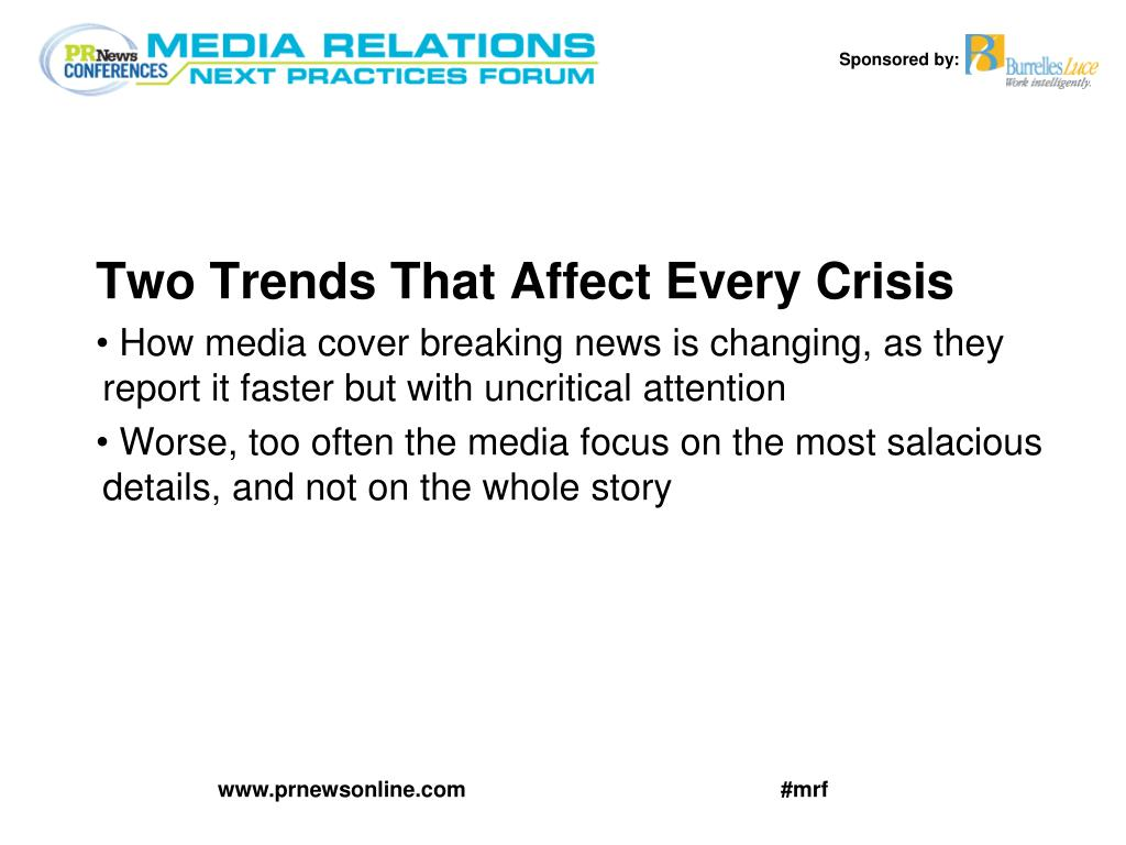 Two Trends That Affect Every Crisis