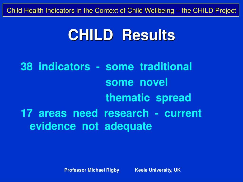 CHILD  Results