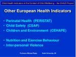 other european health indicators