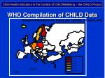 who compilation of child data