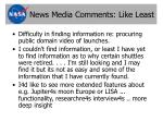 news media comments like least