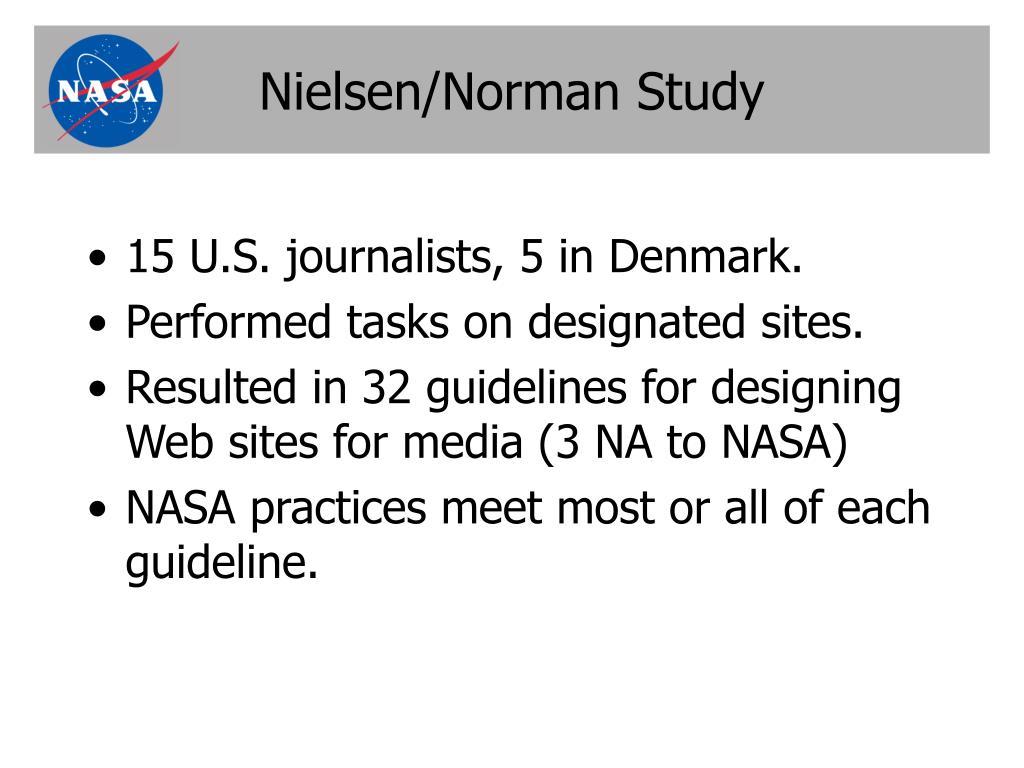 Nielsen/Norman Study