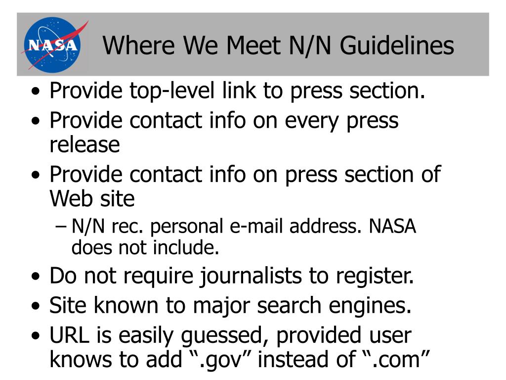 Where We Meet N/N Guidelines