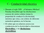c conductividad electrica