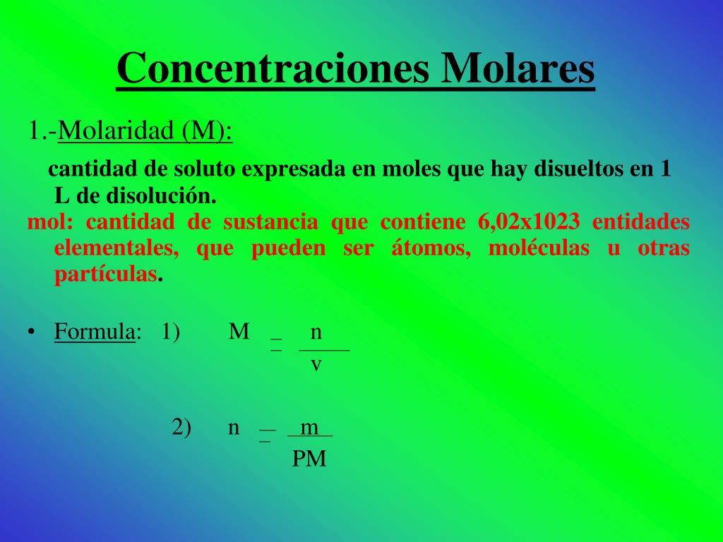 Concentraciones Molares