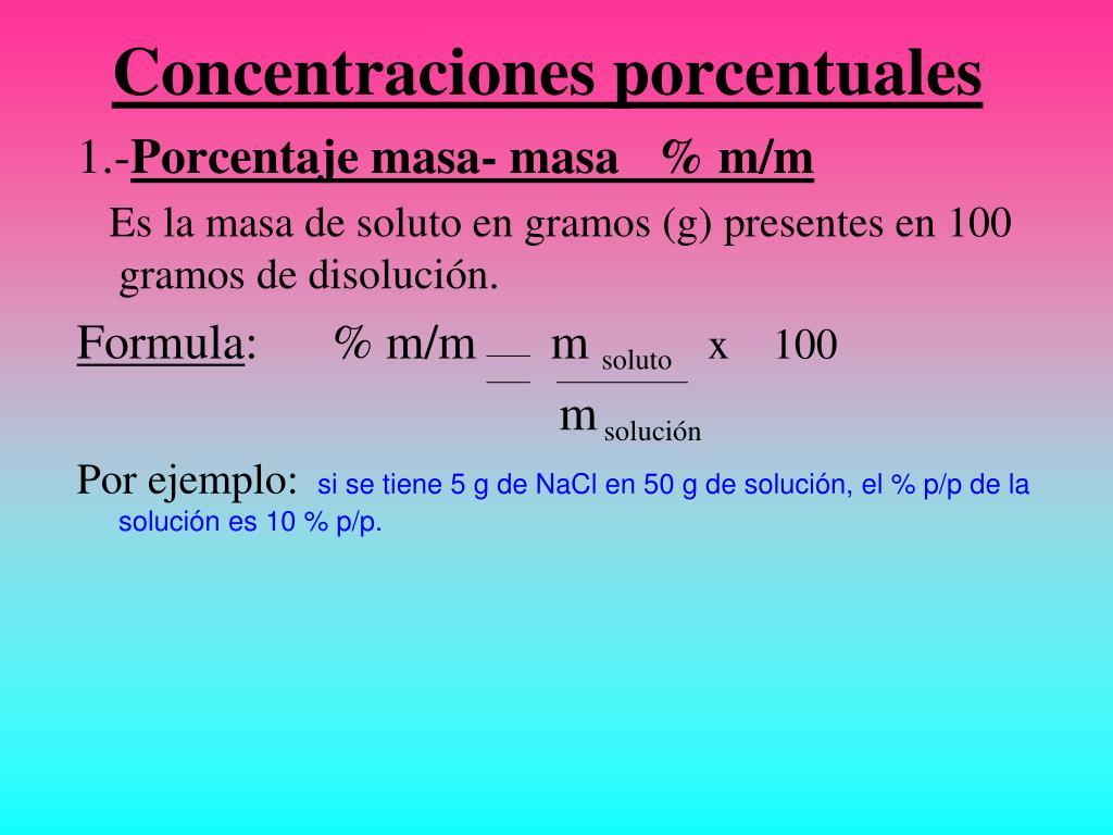 Concentraciones porcentuales