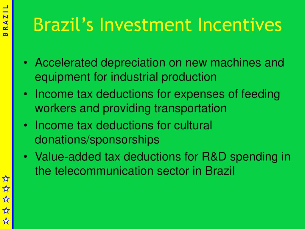 Brazil's Investment Incentives