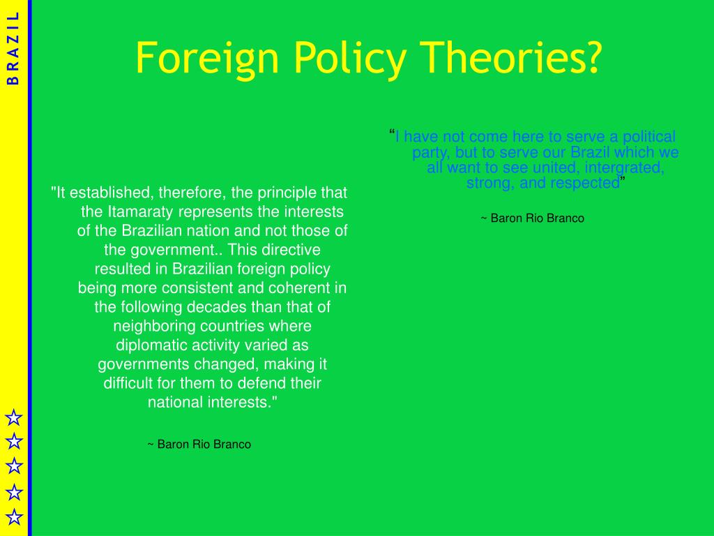 Foreign Policy Theories?