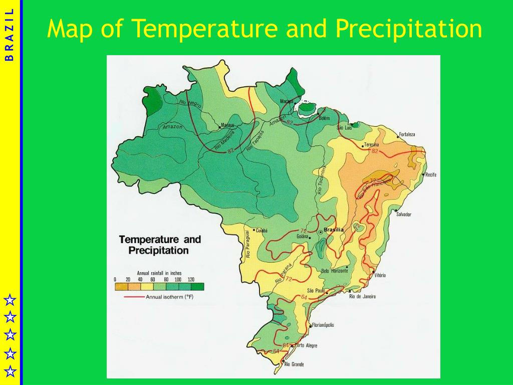 Map of Temperature and Precipitation