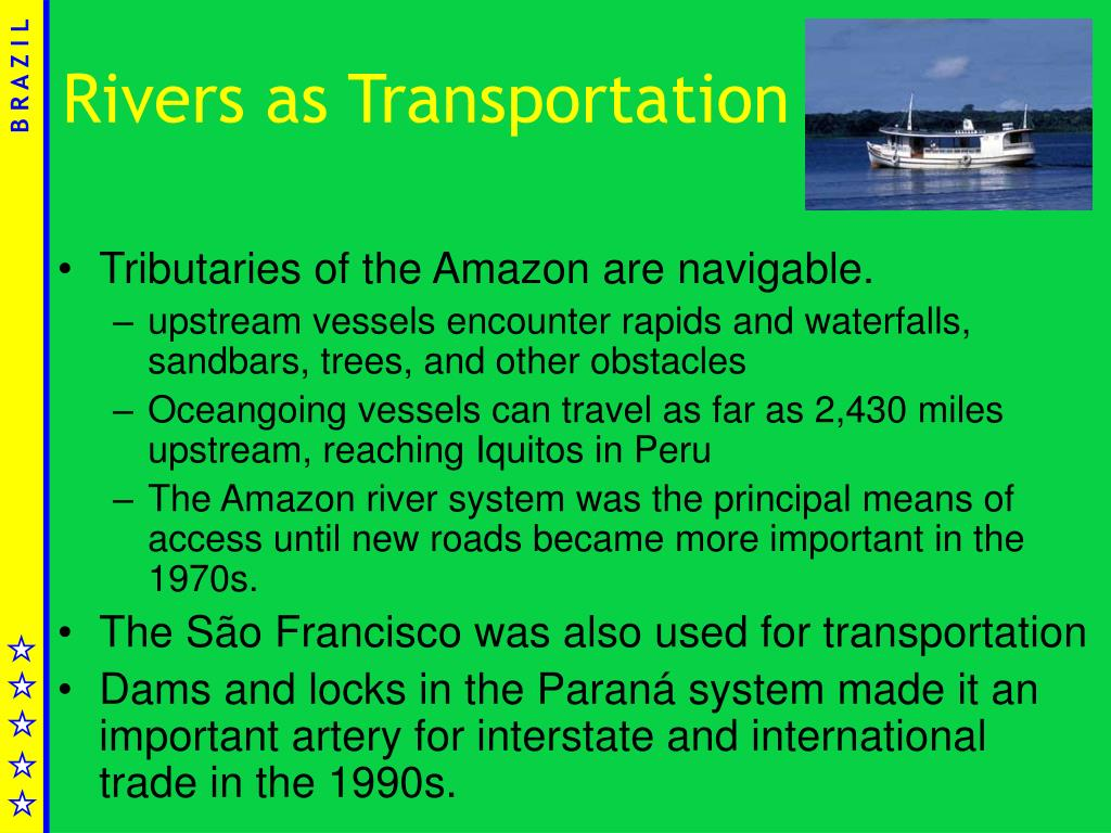 Rivers as Transportation