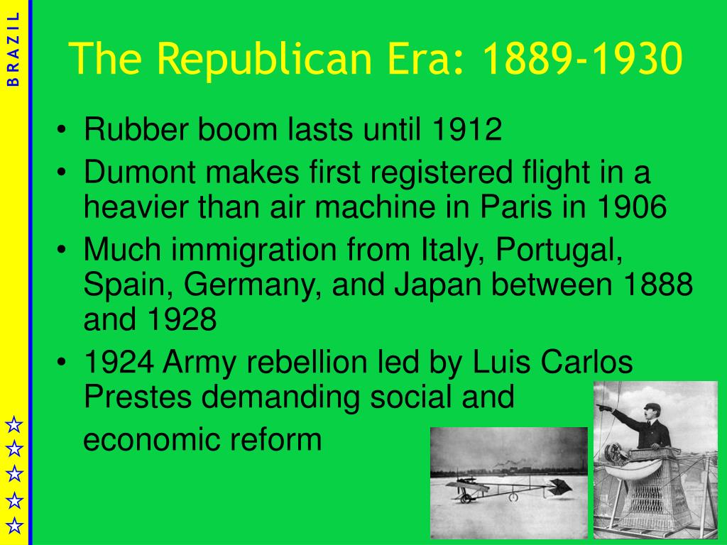 The Republican Era: 1889-1930