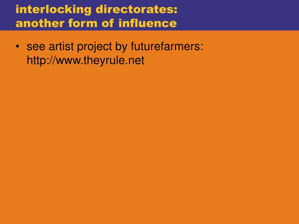 interlocking directorates: