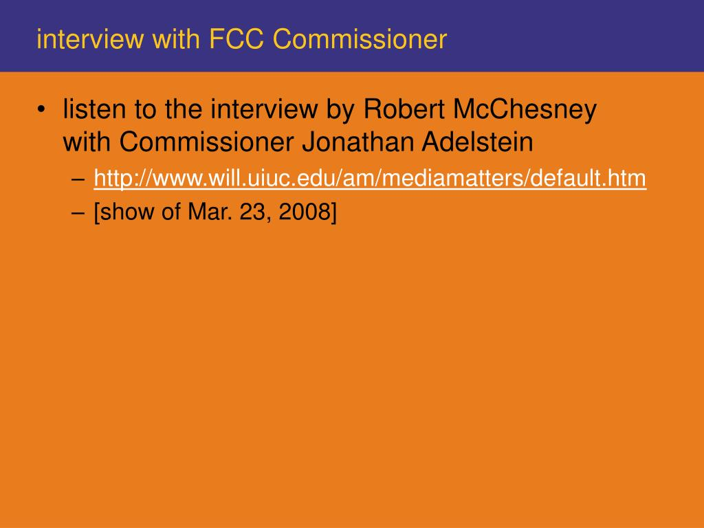 interview with FCC Commissioner