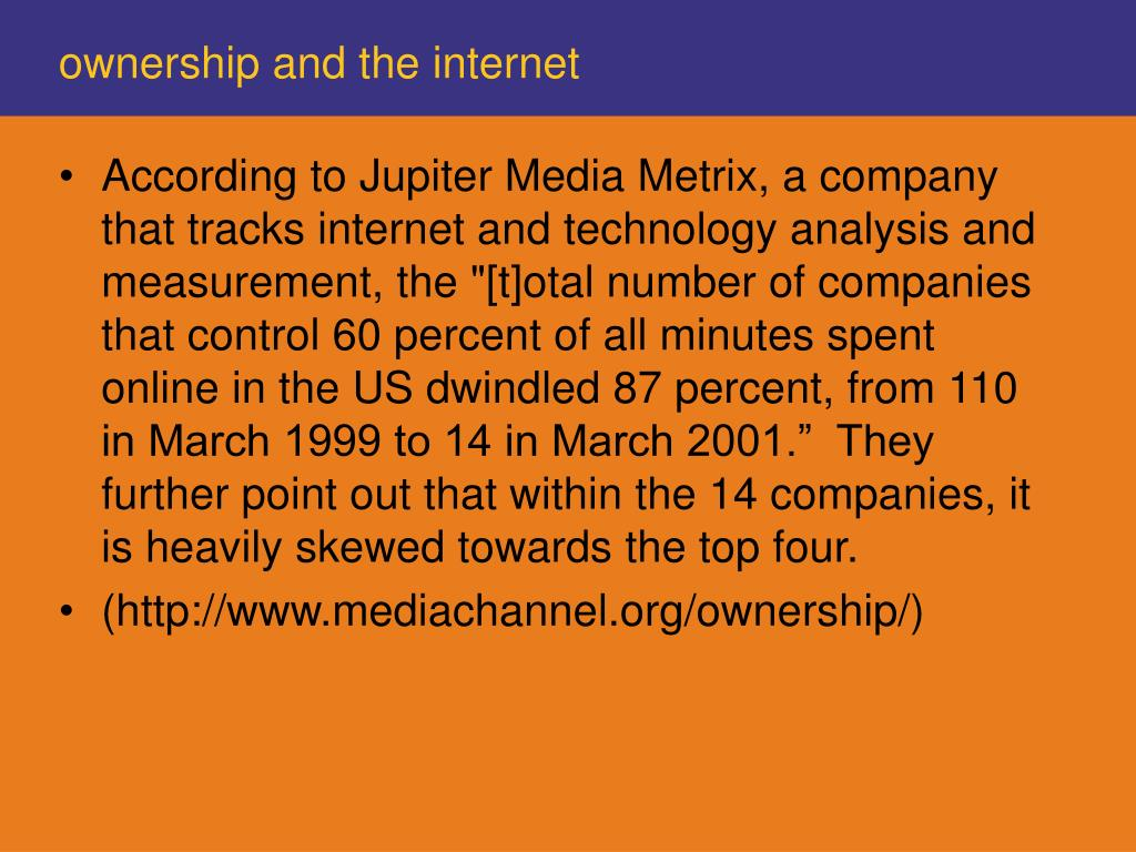 ownership and the internet