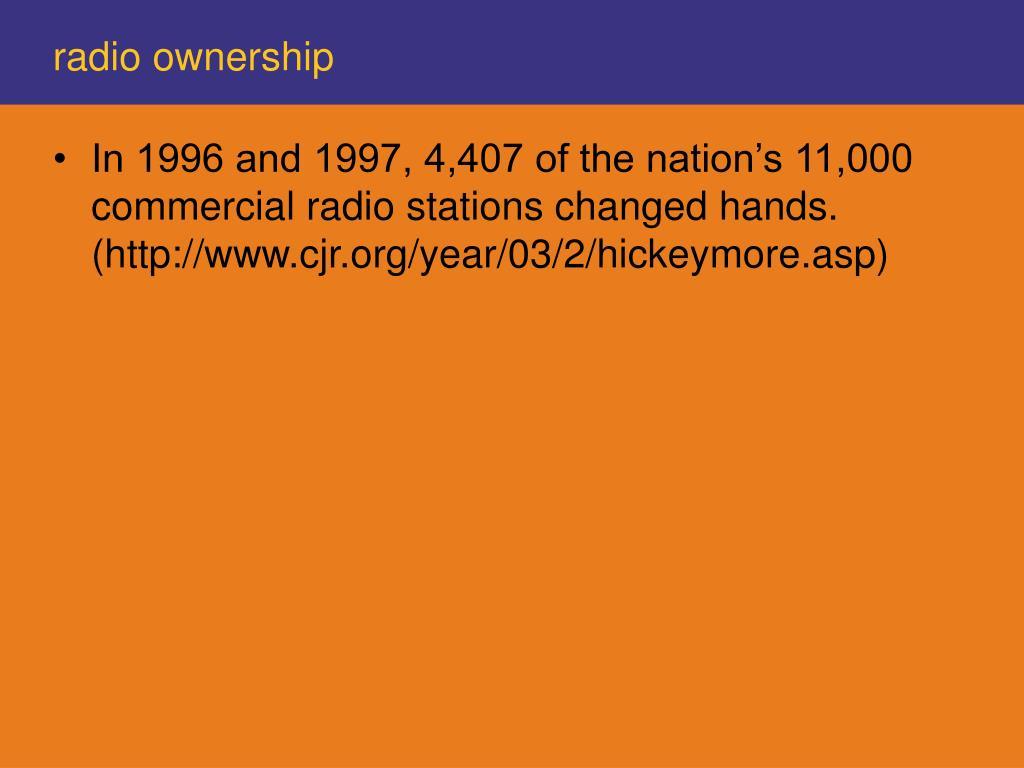 radio ownership