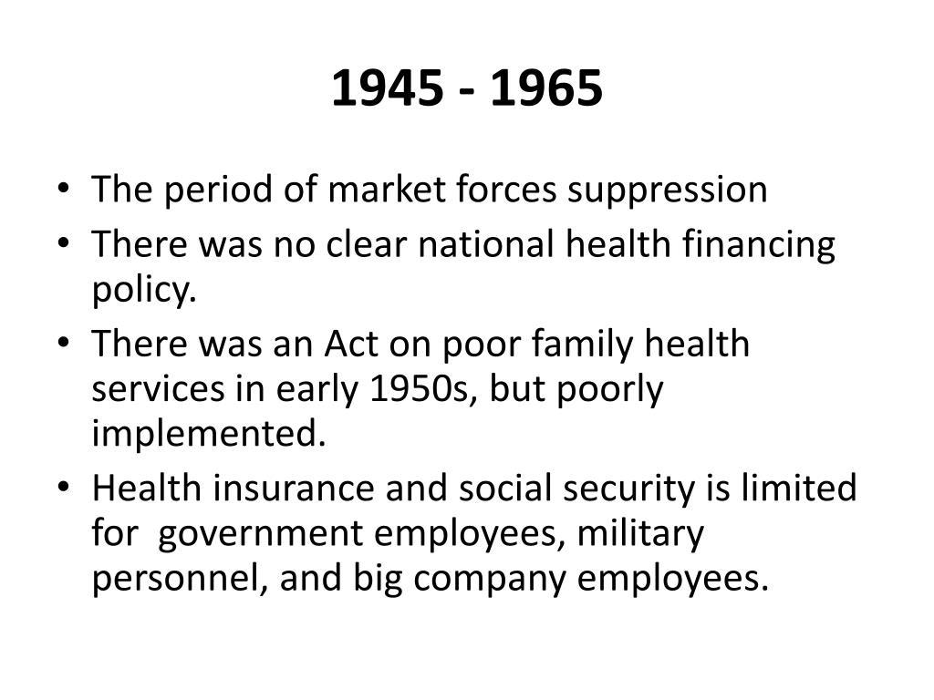1945 - 1965