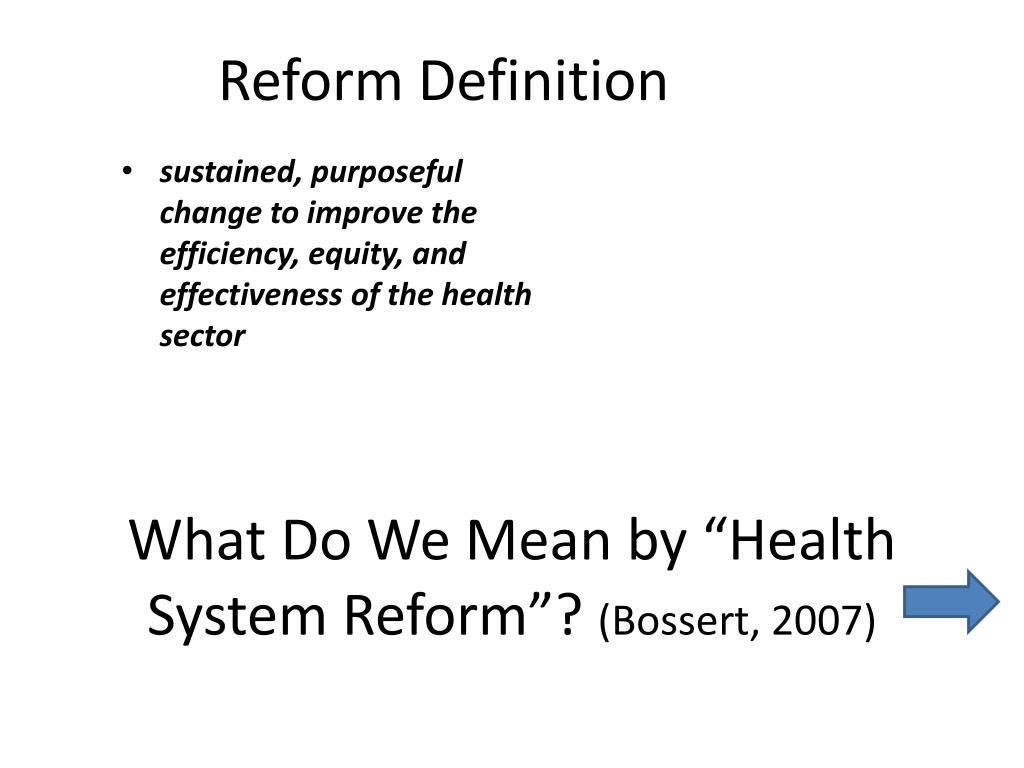 Reform Definition